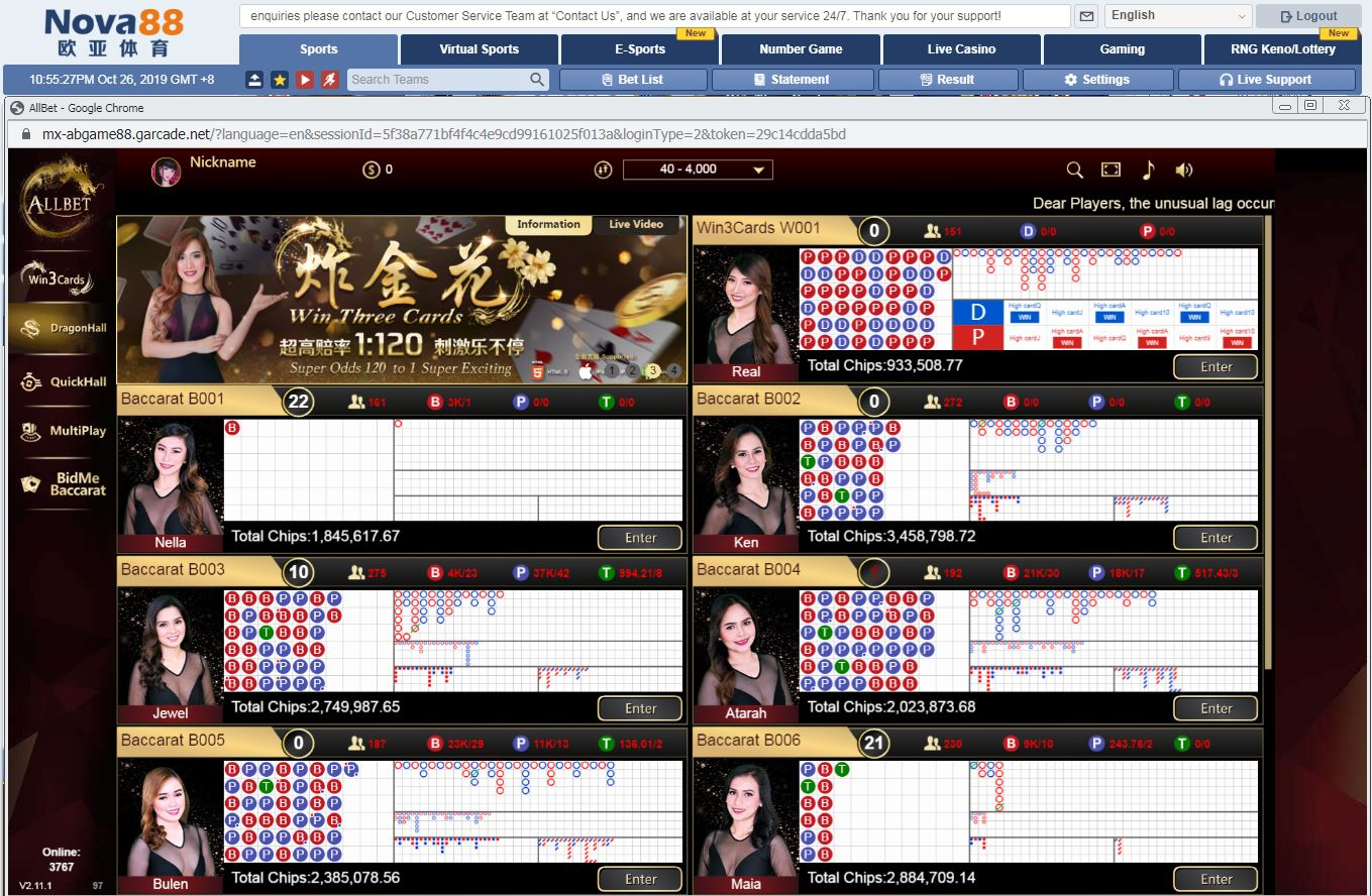 Casino Live ALLBET